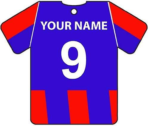 Personalised Crystal Palace Football Shirt Car Air Freshener