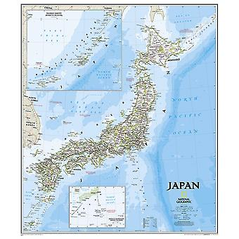 Japan Classic tubed Wall Maps Countries & Regions (National Geographic Reference Map) (Map) by National Geographic Maps