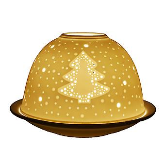 Licht-Glow Christmas Tree Reliefzeichnung Kuppel Teelicht Kerzenhalter
