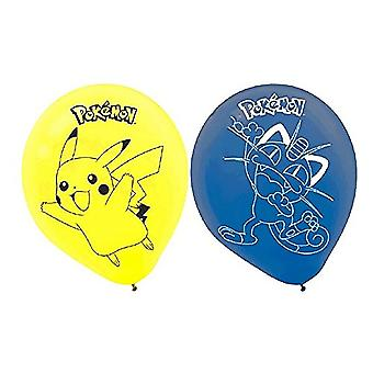 Pokemon Pikachu & Friends Printed Latex Balloons [6 pack]
