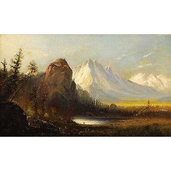 Albert Bierstadt - Manner of Cathedral Rock Poster Print Giclee