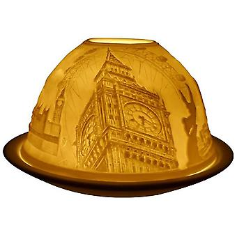 Light-Glow London Lithophane Dome Tealight Candle Holder