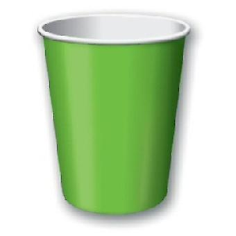 Lime Green 9oz Paper Cup (pk 8)