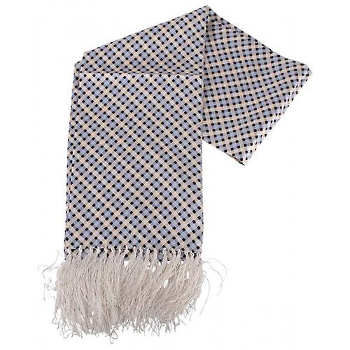 Knightsbridge Neckwear Diamond Aviator Silk Scarf - Blue/Cream