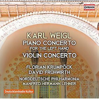 Weigl / Krumpock / North German Philharmonic - Piano Concerto - Violin Concerto [CD] USA import
