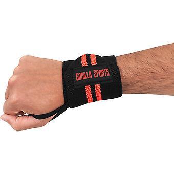 Handgelenkbandagen Schwarz/Rot
