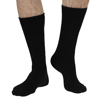Blair-Rock men's thick bamboo boot sock in black | By Braintree