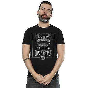 Supernatural Men's Crazy People T-Shirt