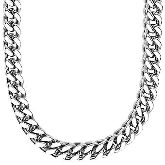 Iced out stainless steel FRANCO 8 x 8 set - Necklace & Bracelet