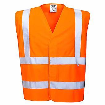Portwest - Hi Vis Workwear Anti estática chaleco de la seguridad - resistente a la llama