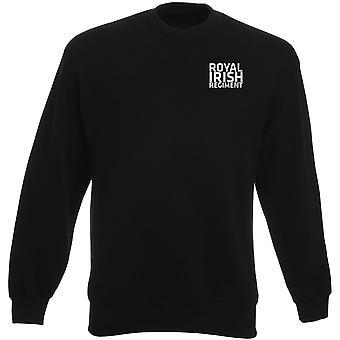 Royal Irish Regiment RIR tekst geborduurd Logo - officiële Britse leger Heavyweight Sweatshirt