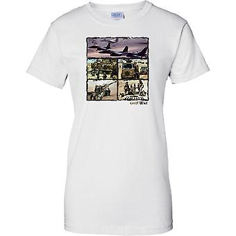 Gulf War Collage - Desert Storm Enduring Freedom - Ladies T Shirt