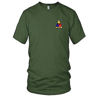 US Armee - 34. gepanzerte Kavallerie-Regiment 2. Bataillon Grabschiff gestickt Patch - Herren-T-Shirt