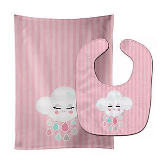 Carolines schatten BB8717STBU Rain Cloud Baby Slabbetje & Burp doek