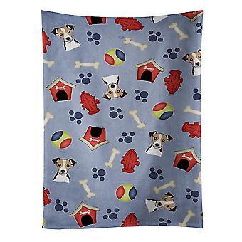 الكلب البيت جمع جاك راسل الكلب منشفة المطبخ