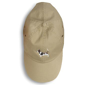 Carolines Treasures  BB3402BU-156 Basset Hound Embroidered Baseball Cap