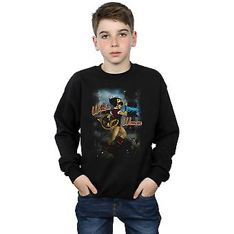 DC Comics Boys Wonder Woman Bombshell Cover Sweatshirt