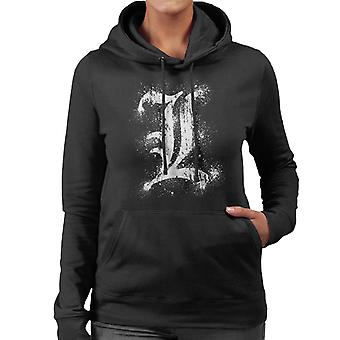 Death Note L Symbol Women's Hooded Sweatshirt
