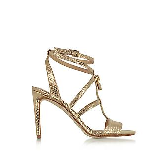 Michael by Michael Kors women's 40R7ATHA1M740 gold leather sandals