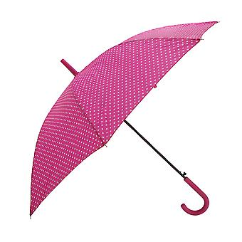 Womens/Ladies Automatic Opening Polka Dot Walking Umbrella