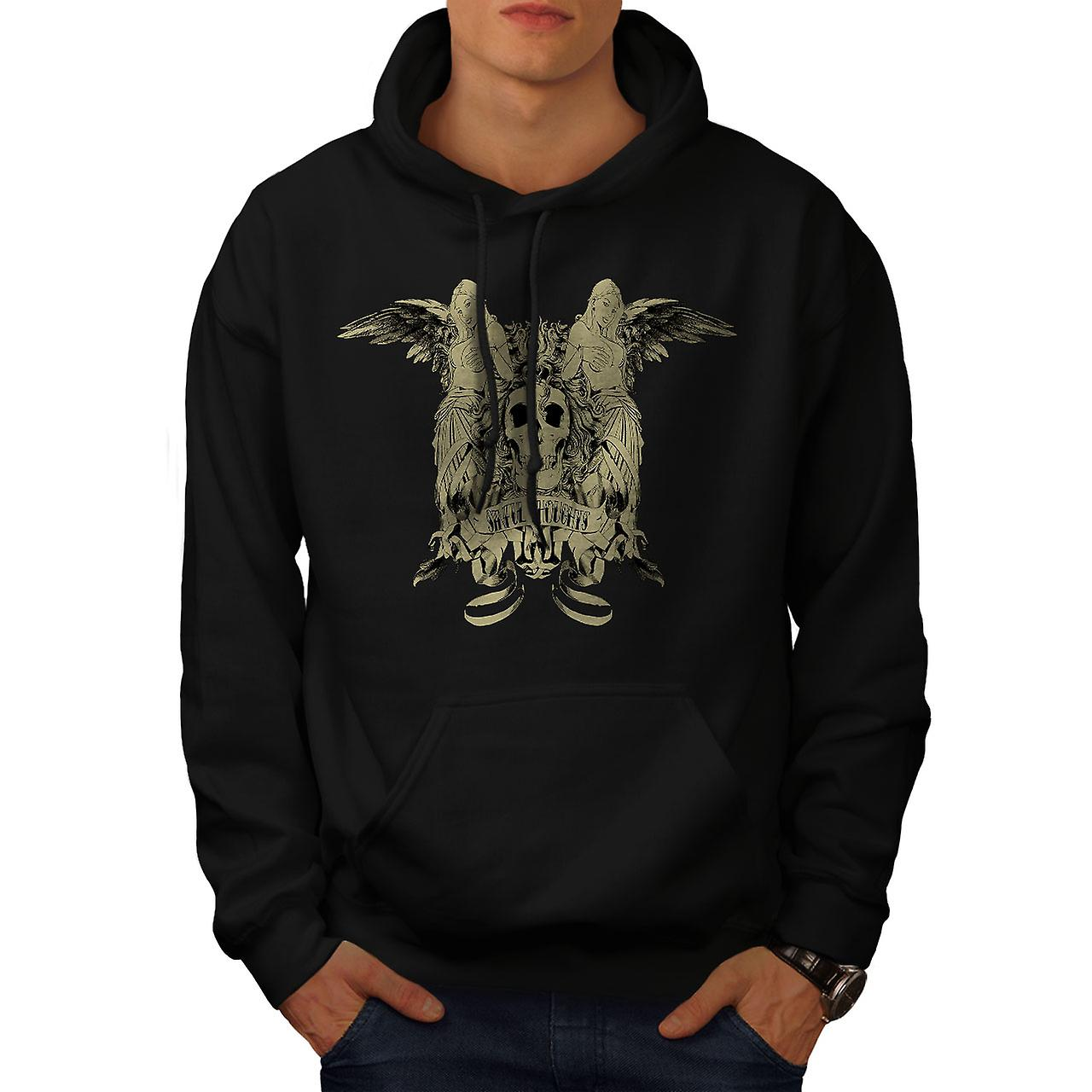 Sinful Thought Sexy Skull Men Black Hoodie | Wellcoda