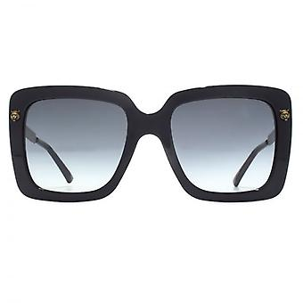 Gucci Tiger Stud Oversize Square Sunglasses In Black