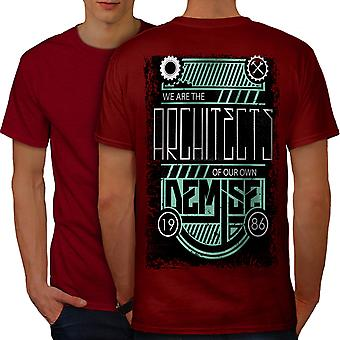 We Are Architects Men RedT-shirt Back | Wellcoda