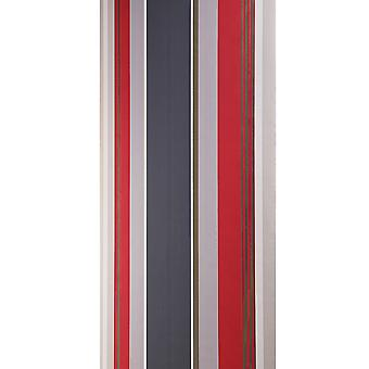 Dulux Easy Hang Feature Wallpaper Roll - Striped Olso - Cherry -31-236