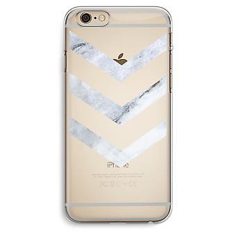 iPhone 6 プラス/6 s プラス透明ケース (ソフト) - 大理石矢印