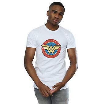 DC Comics mænds Wonder Woman cirkel Logo T-Shirt