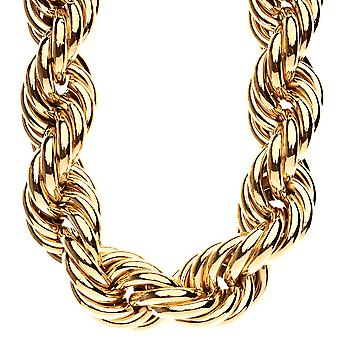 Heavy rope DMC style hip hop necklace - 30mm gold
