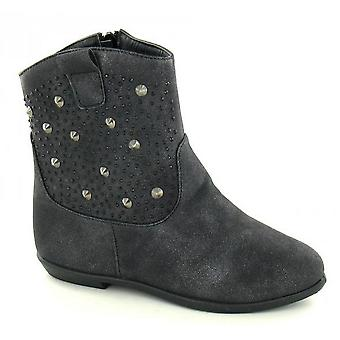 Spot On Girls Flat Ankle Boots