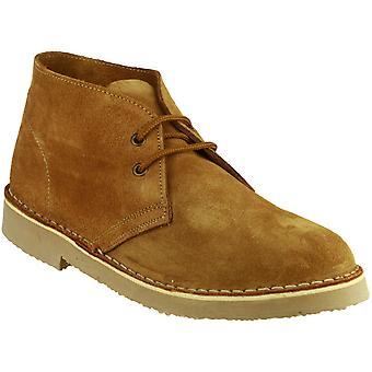 Cotswold Mens Sahara Lace Up Suede Leather Lined Desert Boot Brown