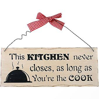 Something Different This Kitchen Never Closes Hanging Sign