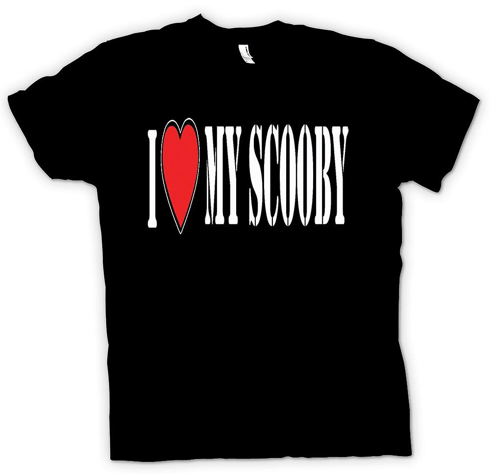 Womens T-shirt - I Love My Scooby Subaru - Car
