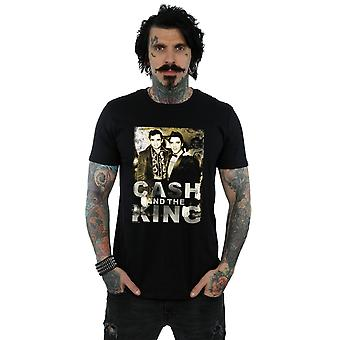 Johnny Cash Men's Cash And The King T-Shirt