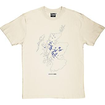 Munros Map Men's T-Shirt