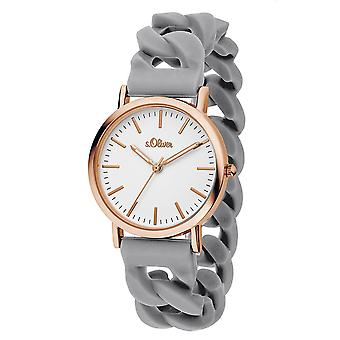s.Oliver ladies watch wrist watch silicone SO-3257-PQ