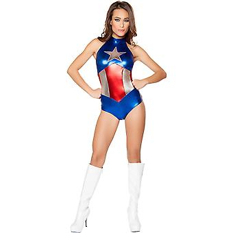 Roma RM-10056 1pc Enhanced eroe americano Womens Costume