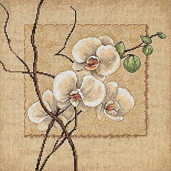 Oriental Orchids Counted Cross Stitch Kit-12