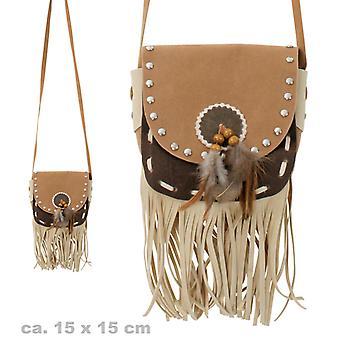 Western Tasche Indianer Umhängetasche 15x15cm Accessoire