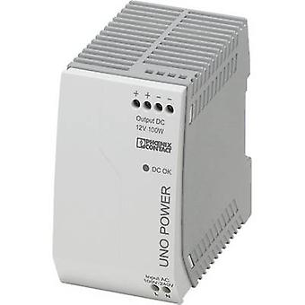 Phoenix Contact UNO-PS/1AC/12DC/100W Rail mounted PSU (DIN) 12 Vdc 8.3 A 100 W 1 x