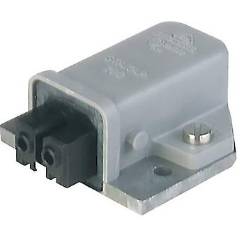 Mains connector STAKAP Series (mains connectors) STAKAP Socket, vertical vertical Total number of pins: 2 + PE 16 A Grey