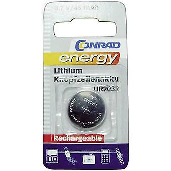 Conrad energy LIR2032 Button cell (rechargeable) LIR2032 Lithium 45 mAh 3.6 V 1 pc(s)