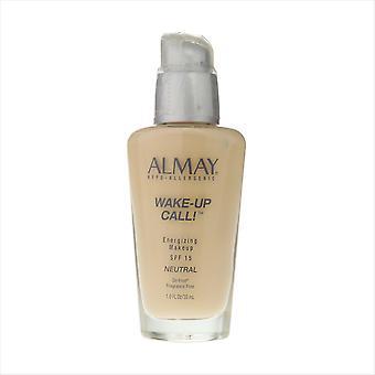 Almay Wake-up call Energizing Makeup SPF 15 Neutral 1oz/30ml New