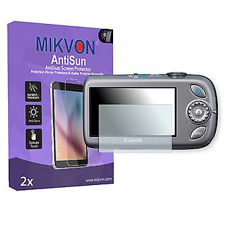 Canon PowerShot SD970 IS Screen Protector - Mikvon AntiSun (Retail Package with accessories)