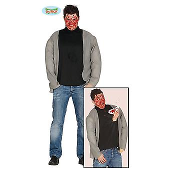 Scary costume with hand for men's Halloween horror zombie