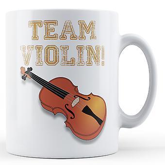Team viool - bedrukte mok