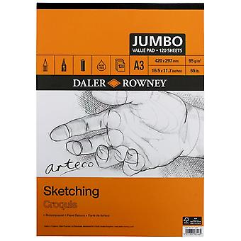Daler Rowney Arteco Jumbo schetsen gegomd Pad A3
