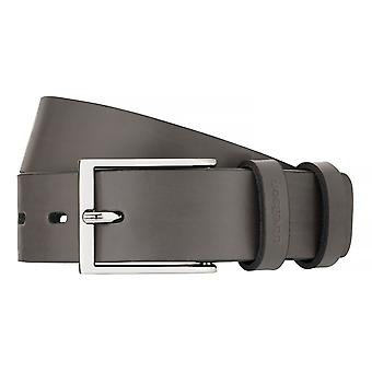 Strellson belts men's belts leather belt grey 7555
